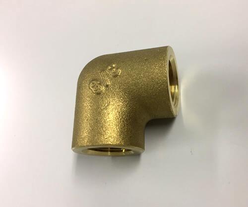 黄銅製ねじ込み継手 エルボ 3/8(メーカー:フローバル)