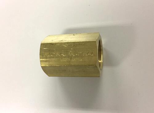 黄銅製ねじ込み継手 六角ソケット 3/8(メーカー:フローバル)