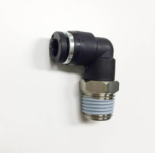 ワンタッチ ハーフエルボ ミリサイズ 適用チューブ外径6φD R1/4(メーカー:フローバル)