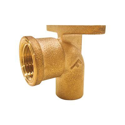 銅管用逆座付き水栓エルボ