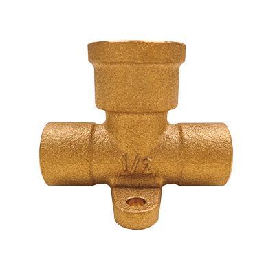 銅管用座付き水栓チーズ