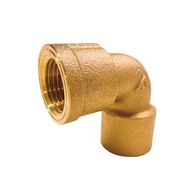 銅管用水栓エルボ