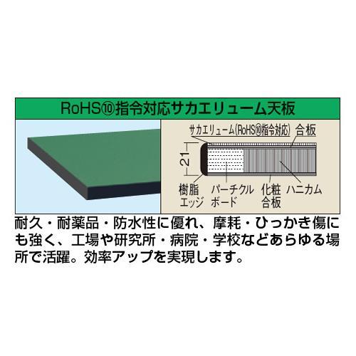 回税RoHS 10物質対応天板付作業台の天板スペック